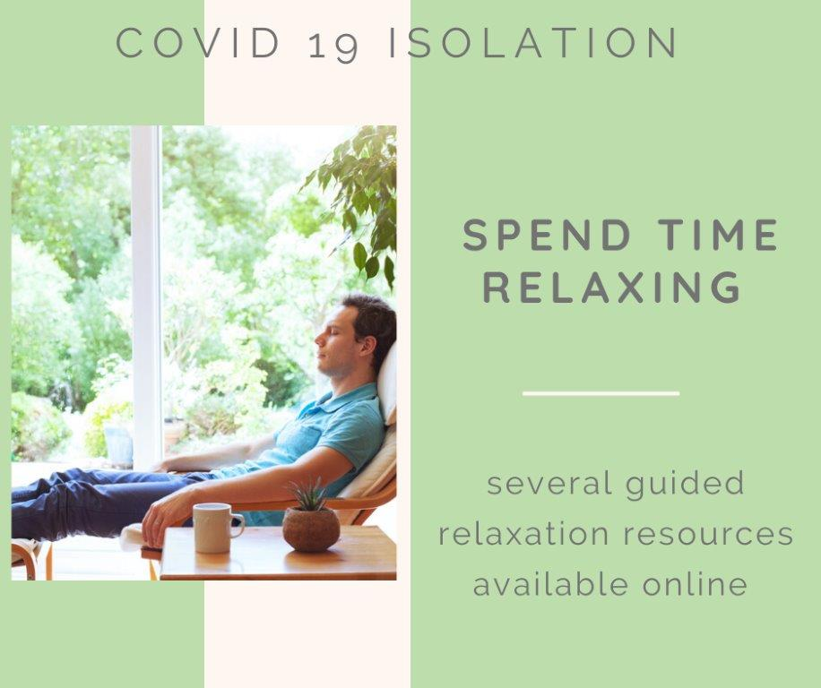 8-covid 19 isolation - relaxation